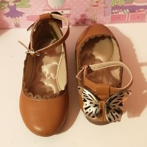 Girls ballerina leather shoes
